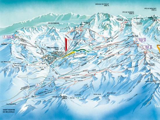 Image alpes express val thorens carte